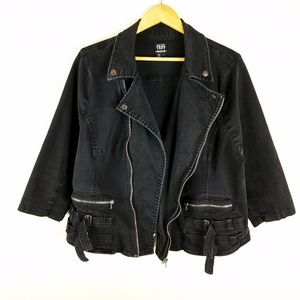 Tripp NYC Daang Goodman Military Denim Jacket Coat